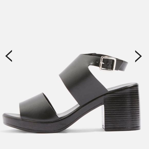 Topshop Shoes | Black Chunky Sandal